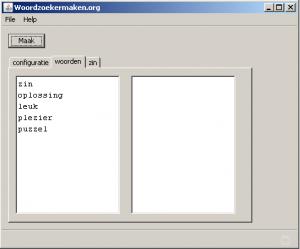 """woordzoekers maken software, de tab """"woorden"""""""