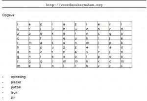 woordzoeker maken met kleine letters (pdf formaat)